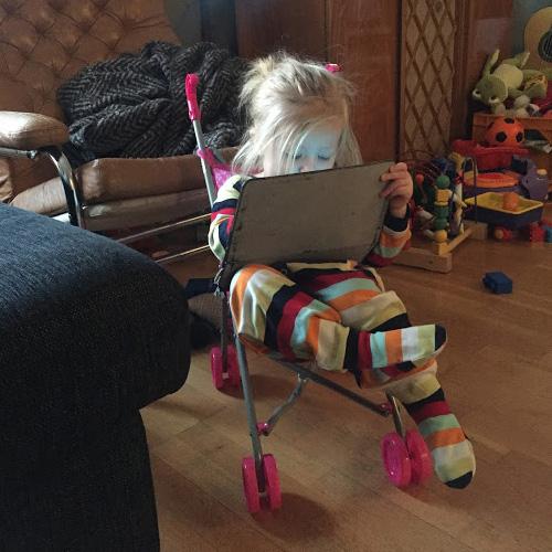 I favoritjulklappen kunde man visst också se på iPad